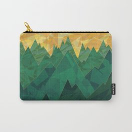 Abstract Vivid Green Mountains Carry-All Pouch