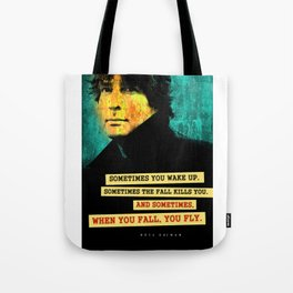 Neil Gaiman Quote Tote Bag