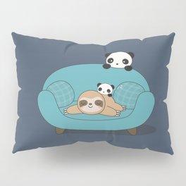 Kawaii Panda and Sloth Pillow Sham