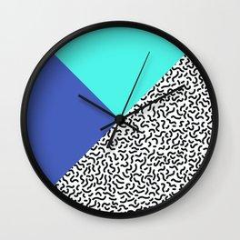 Memphis pattern 29 Wall Clock