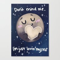 enerjax Canvas Prints featuring Pluto - I love myself by enerjax