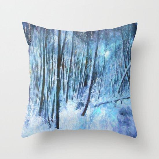 Winter Moonlight Throw Pillow