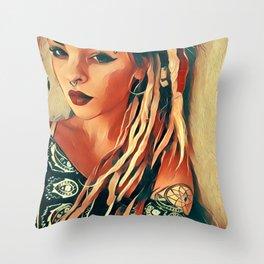 Dreads Throw Pillow