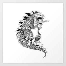 Godzilla. Art Print