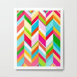 Rainbow Chevrons Metal Print