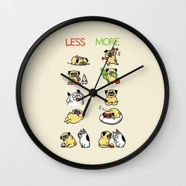 New Years Resolution with The Pug Wall Clock