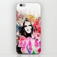 emily rickard iPhone & iPod Skins featuring Emily by Michael Egorkin