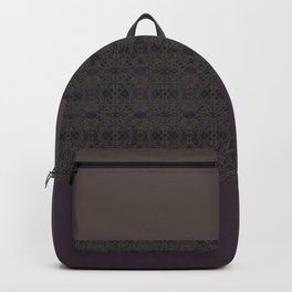 Brown purple patchwork Backpack