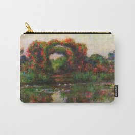 """Claude Monet """"Rose Arches at Giverny"""" Carry-All Pouch"""