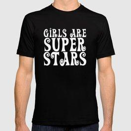 Girls are Super Stars - Purple T-shirt