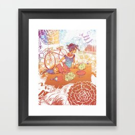 Bicycle Picnic Framed Art Print