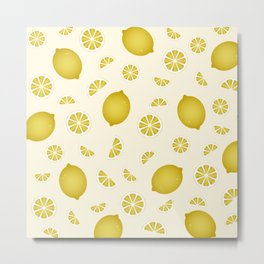 Lemon Pattern 3 Metal Print