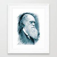 darwin Framed Art Prints featuring Charles Darwin by Zandonai