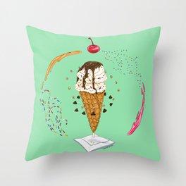 Ice Cream Mandala Throw Pillow