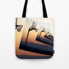 Basketball Hoop Silhouette Tote Bag