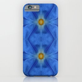 Divine Diamond Morning Glory Blues iPhone Case