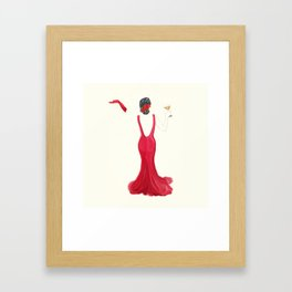 Diva toast Framed Art Print