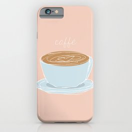 Italian coffee sketch iPhone Case