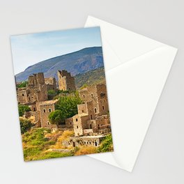 Vatheia, medieval towers village, Mani Peloponnese,Greece Stationery Cards