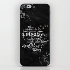 Six of Crows - Monster - Black iPhone Skin