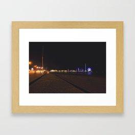 Galveston Pier  Framed Art Print