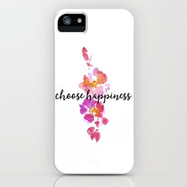 Yellow Pink Pretty Floral iPhone Case