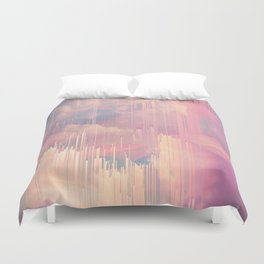 Candy Glitched Sky Duvet Cover