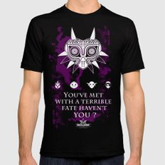 The Legend of Zelda Majora's Mask Terrible Fate Nintendo Geekery Poster/ Fine Art Print / Retro Game Black MEDIUM Mens Fitted Tee