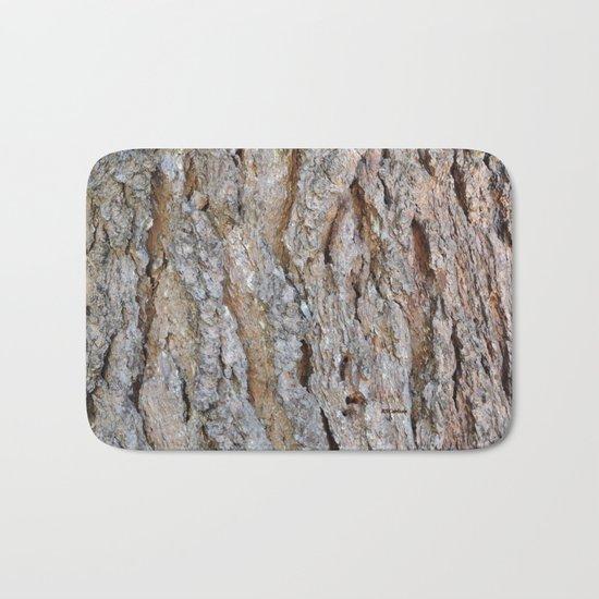 TEXTURES -- Big Cone Pine Bark Bath Mat