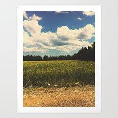 Soy grass Art Print