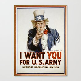I want you for US army Poster Uncle Sam Poster Canvas Print