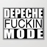 depeche mode Canvas Prints featuring DM : Depeche Fucking Mode by Luc Lambert