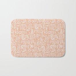Fancy calligraphy Bath Mat