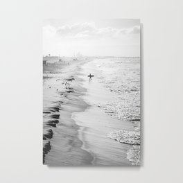 Morning Surfer Manhattan Beach Metal Print