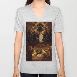 Jesus Is Born Unisex V-Neck