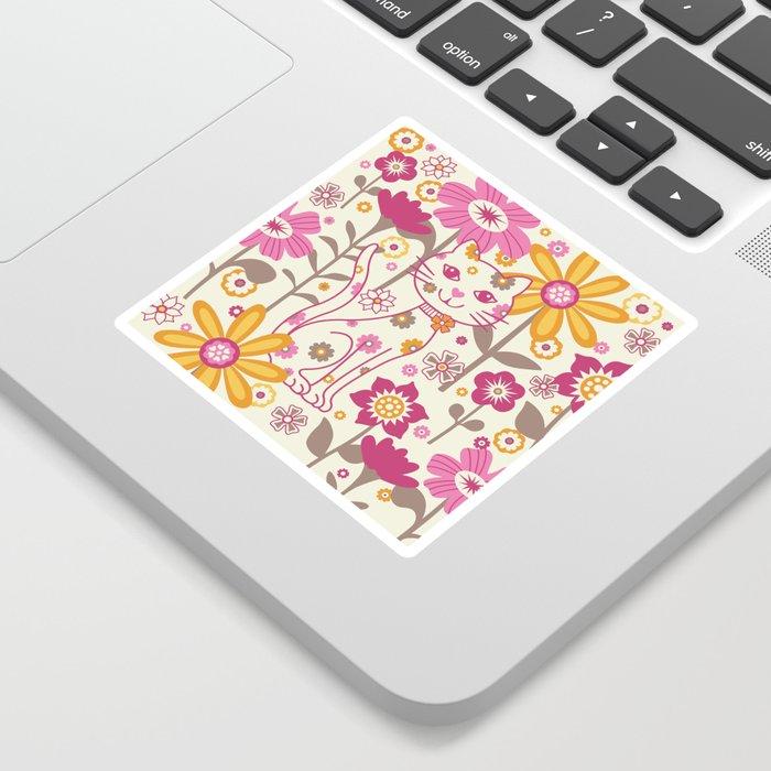 Garden Cat Sticker