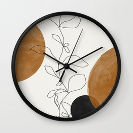 Abstract Plant Wall Clock