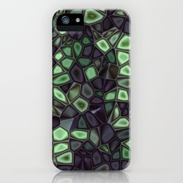 Fractal Gems 04 - Emerald Dreams iPhone Case