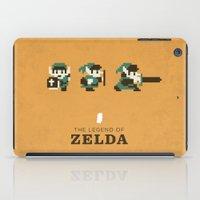 the legend of zelda iPad Cases featuring The Legend of Zelda by Brandon Riesgo