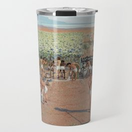 Classical Masterpiece Egyptian Laborers Harvest Grapes by Herbert Herget Travel Mug