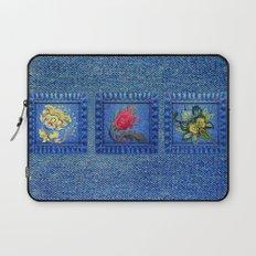 Denim Square Patches Laptop Sleeve