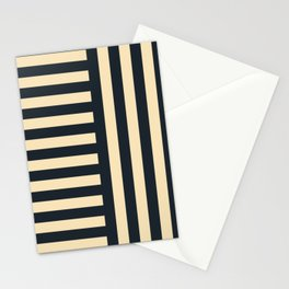 Perpendicular Lines blue and cream Stationery Cards