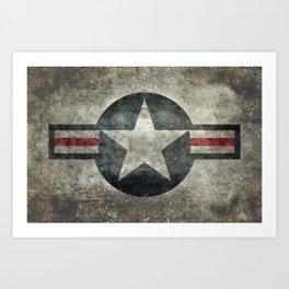 Air force Roundel v2 Art Print
