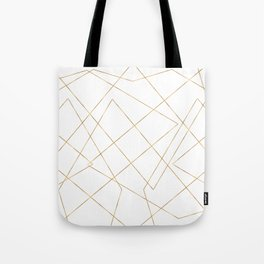 Modern Gold Geometric Strokes Abstract Design Tote Bag