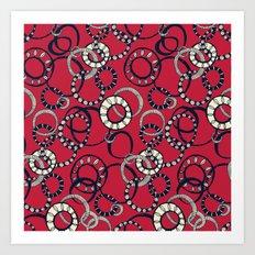 Honolulu hoopla red Art Print