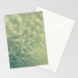 moody bubble clouds Stationery Cards