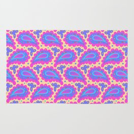 Bold pink paisley seamless pattern. Rug