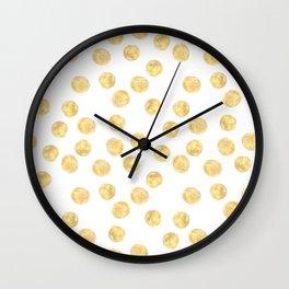Golden dots pattern Wall Clock