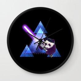 Galactic Panda with Lightsaber Wall Clock