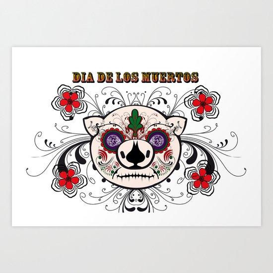 Berto: Dia de los muertos (Day of the dead) Art Print